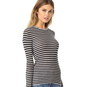 Vince 100% Cashmere Striped Sweater